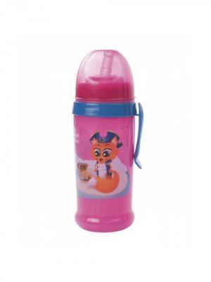 Поильник-непроливайка спортивный с трубочкой и крышкой, 350 мл, 12+ Canpol babies. Цвет: розовый