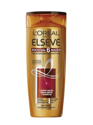 Кремовый шампунь Elseve, Роскошь 6 Масел, для склонных к сухости волос, 400мл L'Oreal Paris. Цвет: белый