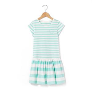 Платье в полоску с короткими рукавами, 3-12 лет La Redoute Collections. Цвет: в полоску