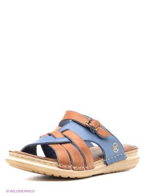 Пантолеты Atiker. Цвет: коричневый, синий