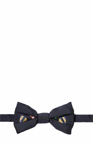 Галстук-бабочка из шелка с принтом Fendi Roma. Цвет: синий