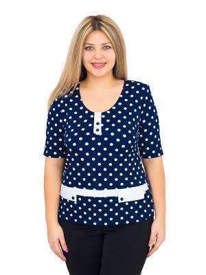 Блуза BALSAKO. Цвет: темно-синий