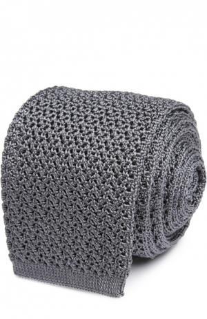 Вязаный галстук Tom Ford. Цвет: серый