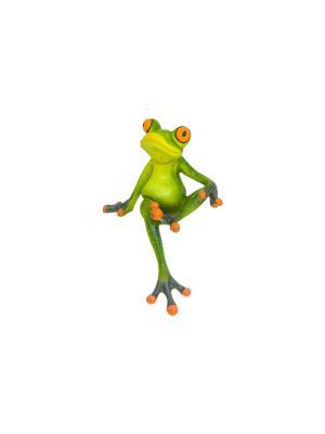 Фигурка декоративная Романтичный лягушонок Elan Gallery. Цвет: зеленый,оранжевый