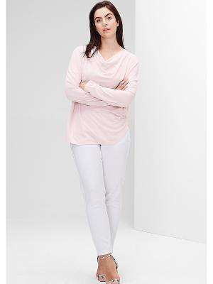 Лонгслив S.OLIVER. Цвет: бледно-розовый, кремовый, белый