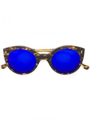 Солнцезащитные очки Palm Beach Violet Illesteva. Цвет: коричневый