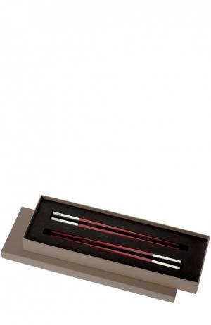Набор палочек для суши Uni Christofle. Цвет: бесцветный