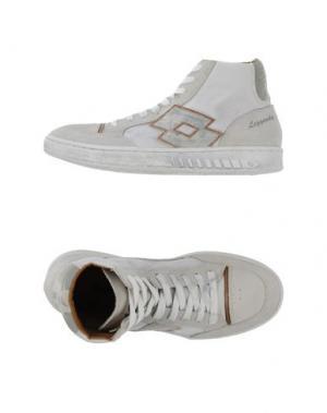 Высокие кеды и кроссовки LOTTO LEGGENDA. Цвет: белый