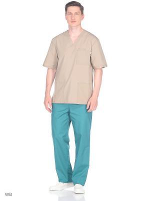 Брюки медицинские Med Fashion Lab. Цвет: зеленый