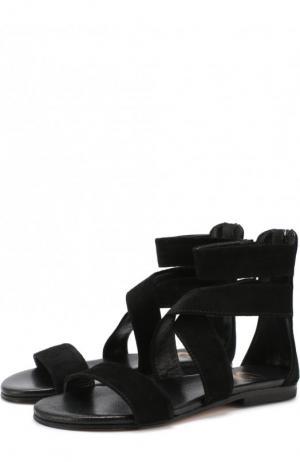 Замшевые сандалии Gallucci. Цвет: черный