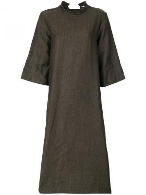 Платье-шифт Cherevichkiotvichki. Цвет: серый