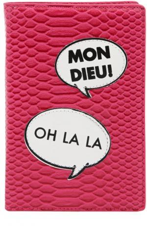 Обложка для паспорта с биркой багажа Iphoria. Цвет: розовый