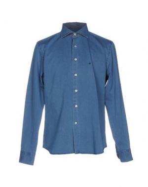 Джинсовая рубашка SONRISA. Цвет: синий