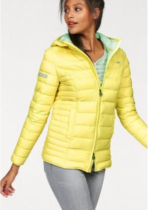 Пуховая куртка Kangaroos. Цвет: нежно-розовый/бежевый, светло-желтый/мятный