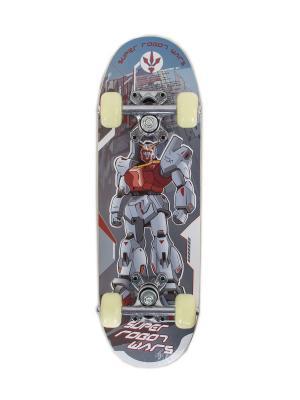 Скейтборд JUNIOR 1 Larsen. Цвет: серый, голубой, красный