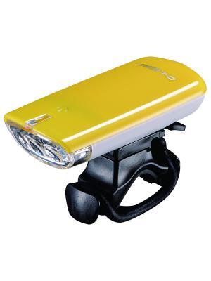 Фара с тремя белыми светодиодами D-light. Цвет: желтый