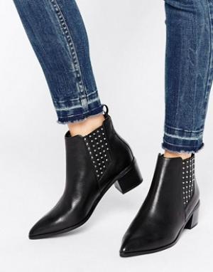 Office Кожаные ботинки челси с заклепками Amber. Цвет: черный
