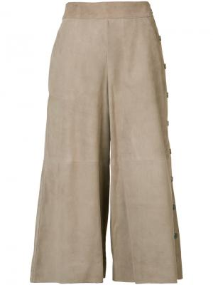 Укороченные брюки Vanessa Seward. Цвет: телесный