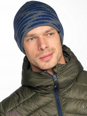 Шапка Viking caps&gloves. Цвет: синий, серый