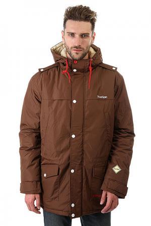 Куртка парка  Fishtail Dark Brown TrueSpin. Цвет: коричневый