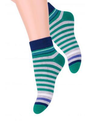 Комплект детских носков Steven, 32-34, зеленый / т.-синий, т.-синий красный, черный ярко-синий Steven. Цвет: зеленый, красный, темно-синий, черный
