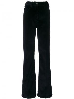 Расклешенные брюки Prada. Цвет: синий