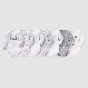 Комплект из 7 боди с длинными рукавами, 0 мес. - 3 года R édition. Цвет: белый + черный