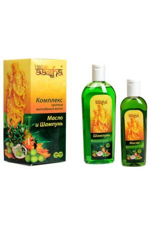 Комплекс от выпадения волос Aasha Herbals. Цвет: none