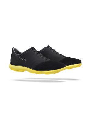 Кроссовки GEOX. Цвет: черный, желтый