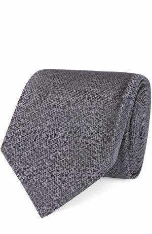 Шелковый галстук Lanvin. Цвет: темно-серый