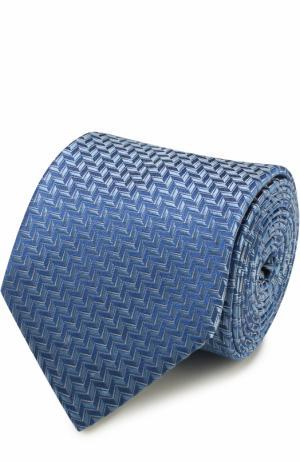 Шелковый галстук с узором Lanvin. Цвет: светло-голубой