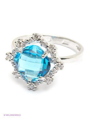 Кольцо SOKOLOV. Цвет: голубой, серебристый