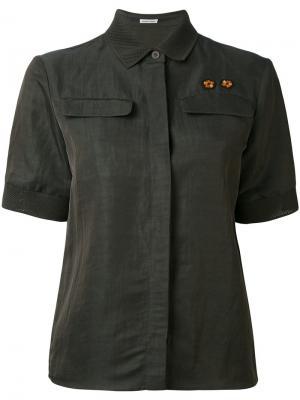 Рубашка с короткими рукавами Tomas Maier. Цвет: зелёный