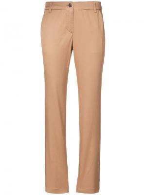 Укороченные брюки кроя слим Marc Cain. Цвет: телесный