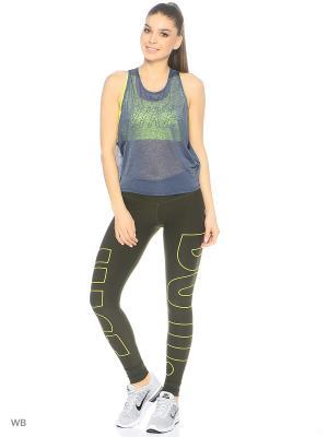 Топ W NK BRTHE TANK PRO INSIDE GRX Nike. Цвет: темно-синий, желтый