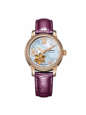 Часы LINCOR. Цвет: фиолетовый, золотистый