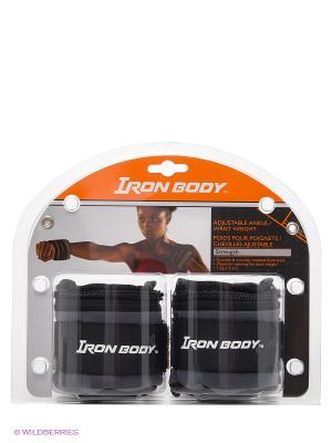 Утяжелители для рук и ног Iron Body. Цвет: черный, серый