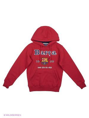 Толстовка Barcelona Atributika & Club. Цвет: красный