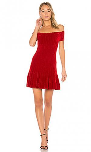 Мини платье karin Ronny Kobo. Цвет: красный