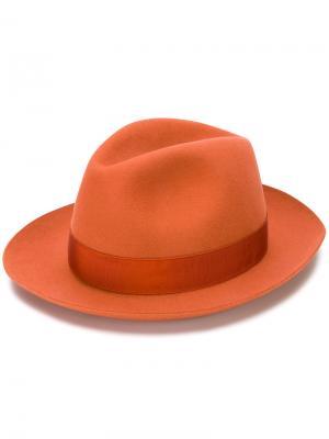 Фетровая шляпа Alessandria Borsalino. Цвет: жёлтый и оранжевый