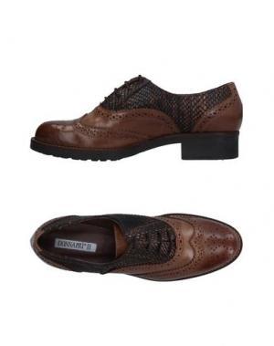 Обувь на шнурках DONNA PIÙ. Цвет: коричневый