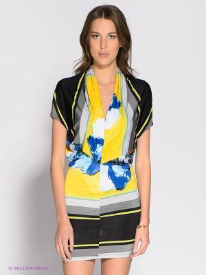 Платье Eunishop. Цвет: желтый, черный