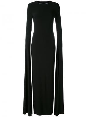 Вечернее платье с удлиненными рукавами Norma Kamali. Цвет: чёрный