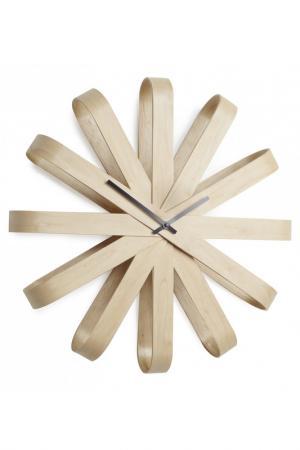 Часы настенные RIBBON UMBRA. Цвет: бежевый