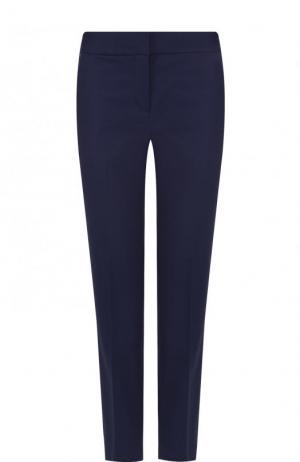 Укороченные хлопковые брюки со стрелками MICHAEL Kors. Цвет: синий