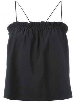 Smocked camisole Nanushka. Цвет: чёрный