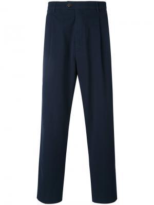 Укороченные брюки прямого кроя Closed. Цвет: синий