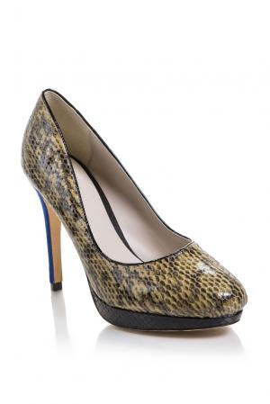 Туфли из кожи питона 159936 Bourne. Цвет: разноцветный