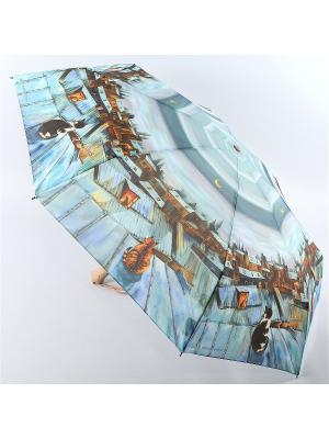 Зонт Zest. Цвет: светло-серый, серо-голубой