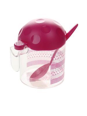 Сахарница Migura. Цвет: розовый